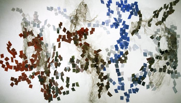 Körper-Opfer (Body-Victim, floor painting)