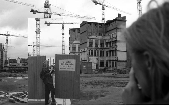 Selbstportrait Berlin-Mitte, Fotomontage