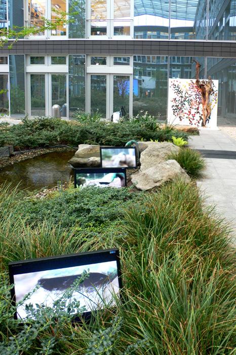 Japanischer Garten des TAB-Gebäude Innenhofs