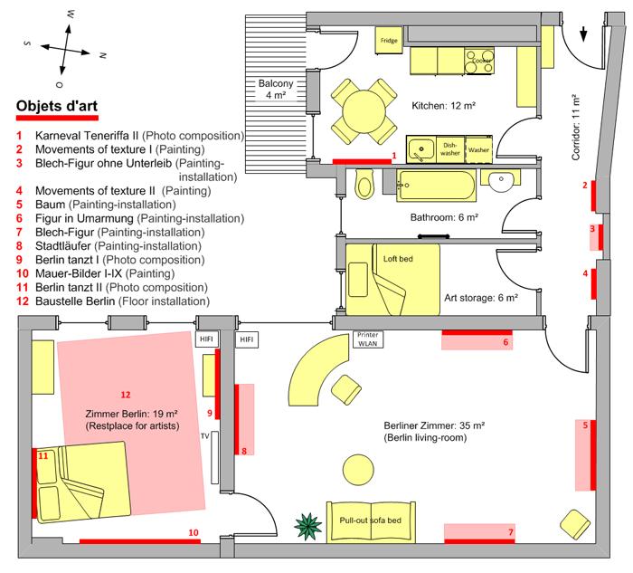 Grundriss der Galeriewohnung